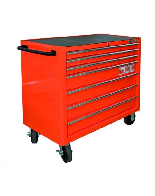 7 çekmeceli ekstra geniş kapasiteli , paslanmaz çelik üst bölmeli takım arabası